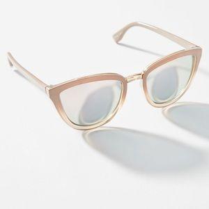 Pearl Mirrored Kankakee Cat-Eye Sunglasses